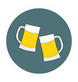 two glasses with beer on vector image