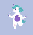unicorn with heart cartoon vector image