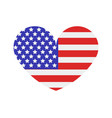 united states flag with heart vector image
