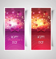 Valentines Day backgrounds vector image vector image