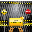 warning signs grunge background vector image vector image