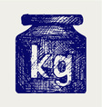 Weight kilogram vector image vector image