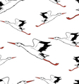 White stork in flight seamless wallpaper vector | Price: 1 Credit (USD $1)