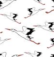 White Stork in flight seamless wallpaper vector image vector image