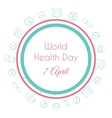 world health day hand drawn medical vector image vector image