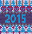 2015-Background of new year with knitted vector image