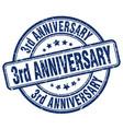 3rd anniversary blue grunge stamp
