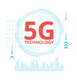 5g technology web banner template vector image