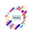 abstract hexagonal frames with dynamic shape vector image vector image