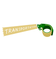 Adhesive Tape Dispenser With A Word Transportation vector image vector image