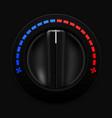 air temperature selector car dashboard black vector image vector image