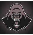 angry gorilla symbol vector image vector image