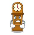 angry grandfather clock mascot cartoon vector image vector image
