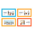 architect and engineer occupation landing page vector image