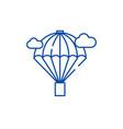 balloon line icon concept balloon flat vector image vector image