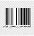 barcode flat icon bar code sign thin line vector image vector image