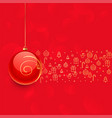 beautiful red christmas ball and other elements vector image