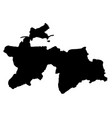 black silhouette country borders map of vector image vector image