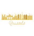 Brussels City skyline golden silhouette vector image vector image