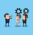 businessman leader with teamwork vector image