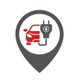 car charging station geo point electric car icon vector image vector image