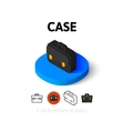 Case icon in different style vector image vector image