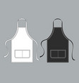 chef apron black white culinary aprons vector image vector image