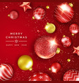 christmas background with shining stars confetti vector image vector image