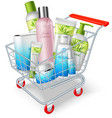 Cosmetics Shopping Cart vector image