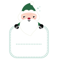 Cute beautiful green Santa isolated on white vector image
