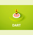 dart isometric icon isolated on color background vector image