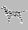 dogs silhouettes inside one dog vector image vector image