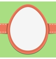 Easter card template in the frame of eggs vector image vector image