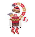 fairaisle knitwear and christmas winter vector image
