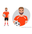 football character soccer player vector image