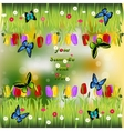 grass with flowers vector image vector image