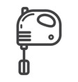 hand mixer line icon household and appliance vector image vector image