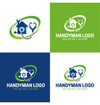 handyman icon and logo vector image vector image