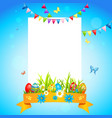 holiday easter card vector image