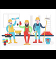 home workers characters team friendly vector image vector image