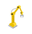 hydraulic robot with special nozzle claws image vector image vector image