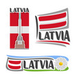 Logo for latvia vector image