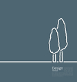 Logo of cypresses in minimal flat style line vector image vector image