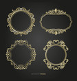 luxury border frame set vector image vector image