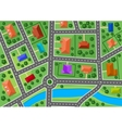 map little town or suburb village vector image vector image