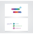 modern minimalist business card with a place for vector image
