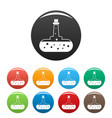 potion flask icons set color vector image vector image