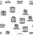 protein food nutrition seamless pattern vector image vector image