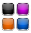 push buttons glass colored square icons vector image vector image