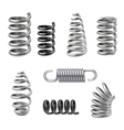 Realistic Metal Springs vector image vector image